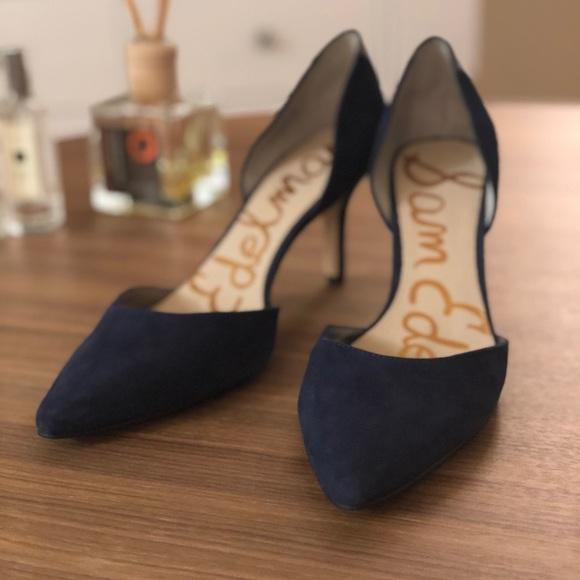1fc2294055c845 Sam Edelman Shoes - Sam Edelman Tesla Suede dOrsay Pumps Navy Blue